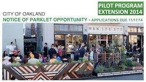 Oakland's parklets flyer