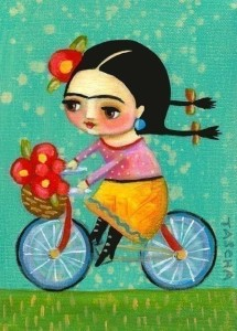 Frida on Bike