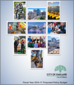 Mayor Schaaf's budget cover graphic
