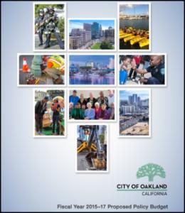 Mayor Schaaf's budget cover graphic